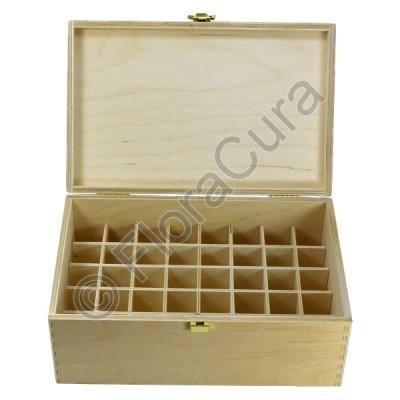 Holzbox Standard für 40 Apothekenfläschen a 30ml