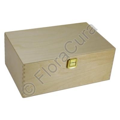 Holzbox aus Birkenholz für 40 Apothekenfläschen